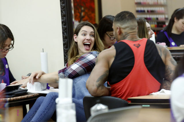 Kelly Brook is all smiles as she and fiancee, David McIntosh are seen at Beverly Hills Nail Design spa along side, Whitney Port.  The sexy English model/television presenter was seen in Beverly Hills with her muscular fiancee. <P> Pictured: Kelly Brook, David McIntosh <B>Ref: SPL732765  050414  </B><BR/> Picture by: Sharky / Splash News<BR/> </P><P> <B>Splash News and Pictures</B><BR/> Los Angeles: 310-821-2666<BR/> New York: 212-619-2666<BR/> London: 870-934-2666<BR/> photodesk@splashnews.com<BR/> </P>