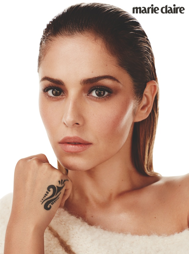 Cheryl Fernandez-Versini covers Marie Claire December issue