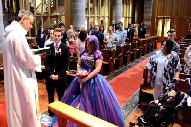 Mum Carla held mock wedding so her dying son D'shawn could walk her down the aisle