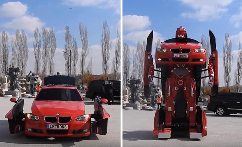 車からロボットに変身! トランスフォーマーを実現した動画が話題に