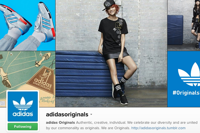 instagram, adidas originals