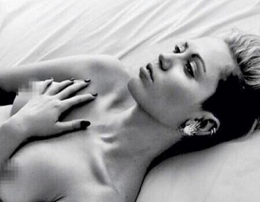 Miley Cyrus' nipple
