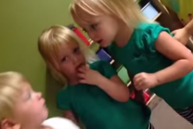 'Oww...you poked my heart!' Funny video of squabbling toddlers hits 2 million views