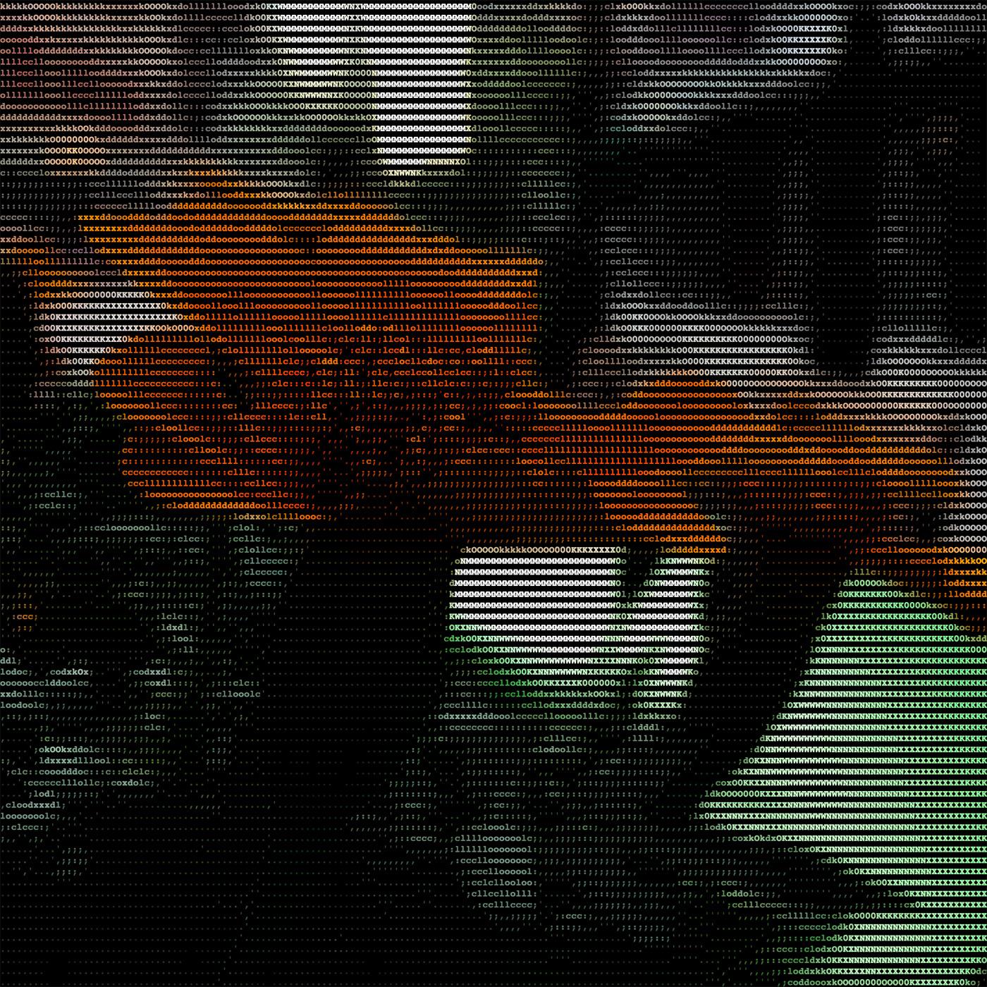 Instagram flower shot turned into ASCII art