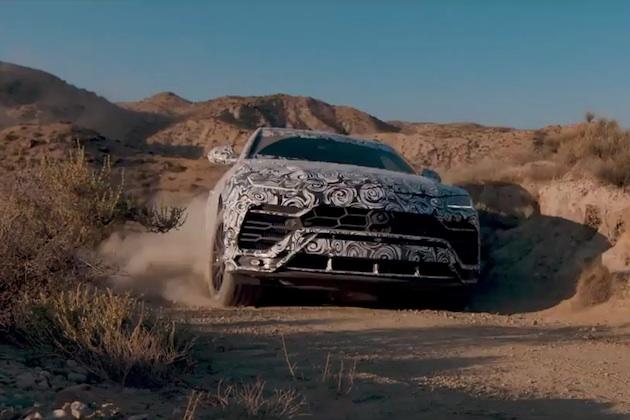 【ビデオ】ランボルギーニ、新型SUV「ウルス」のオフロード走行性能を見せつける3本のビデオを公開!