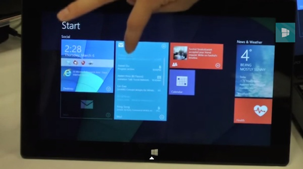 Microsoft Live Tiles interactivo