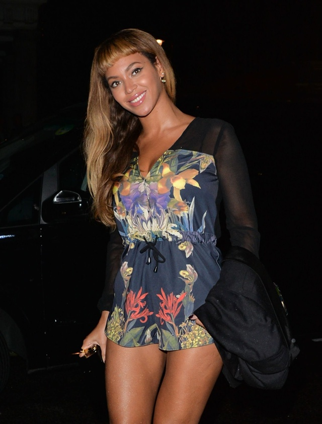 Beyonce WOWS in £90 playsuit for night out in London