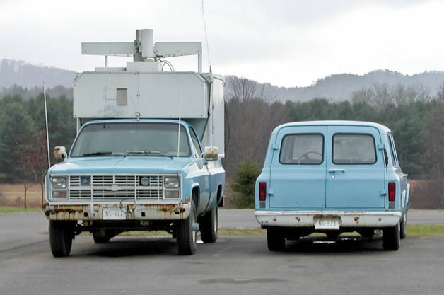 High-tech observatory only uses decades-old diesel trucks