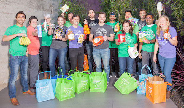 San Francisco startup Instacart poses for photo for their 2013 press kit