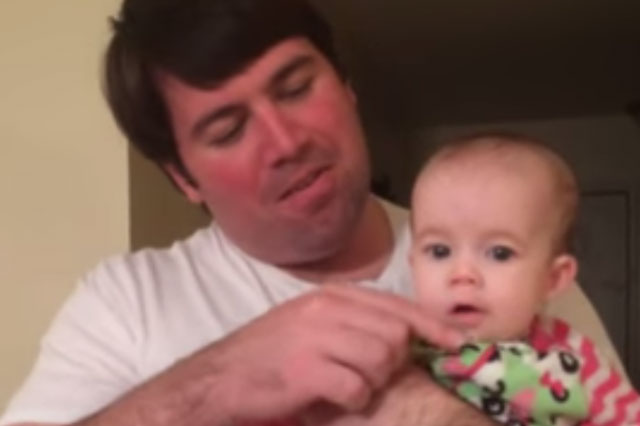 Baby sings adorable Christmas carol (with a little help from dad)