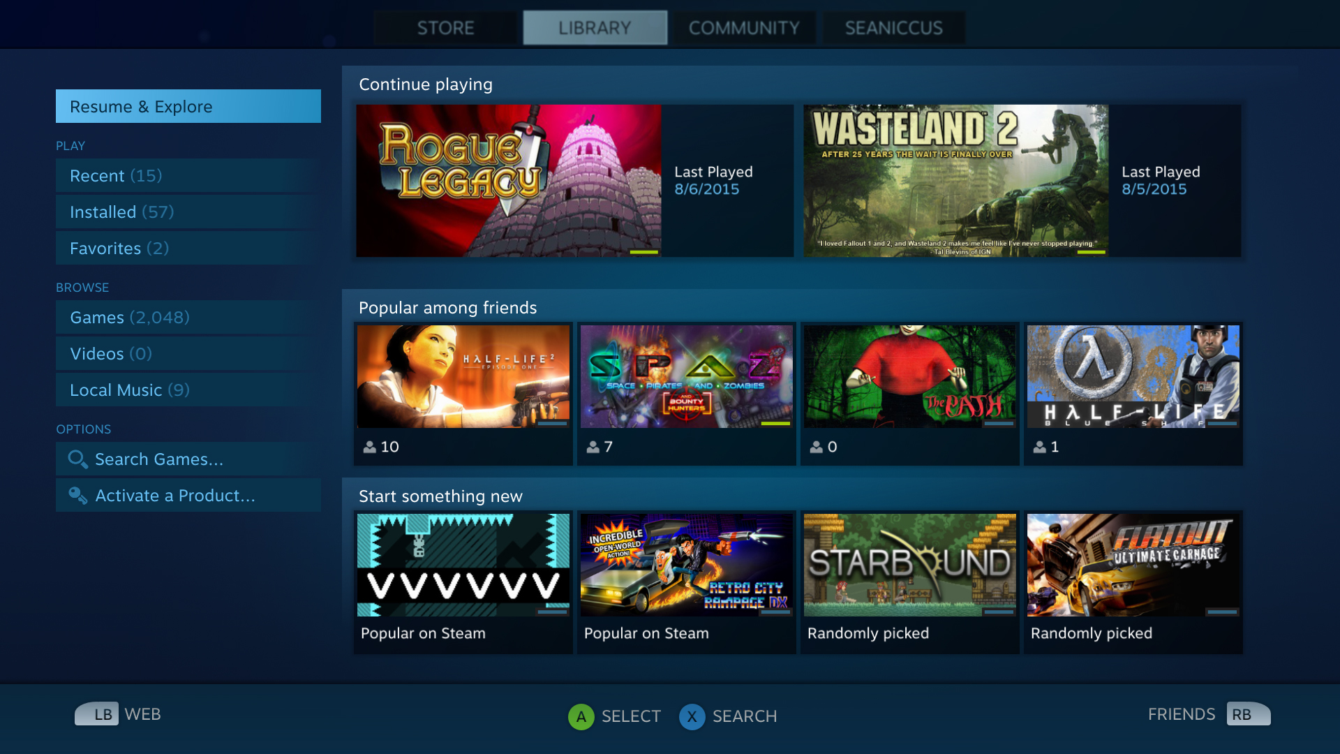 Valve's testing a new look for Steam on TVs