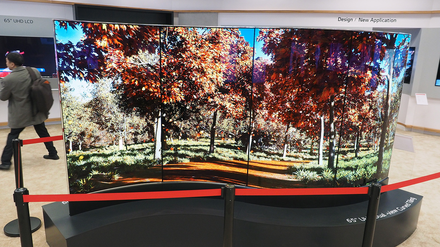 LG's TV future is filled with weird shapes and big screens