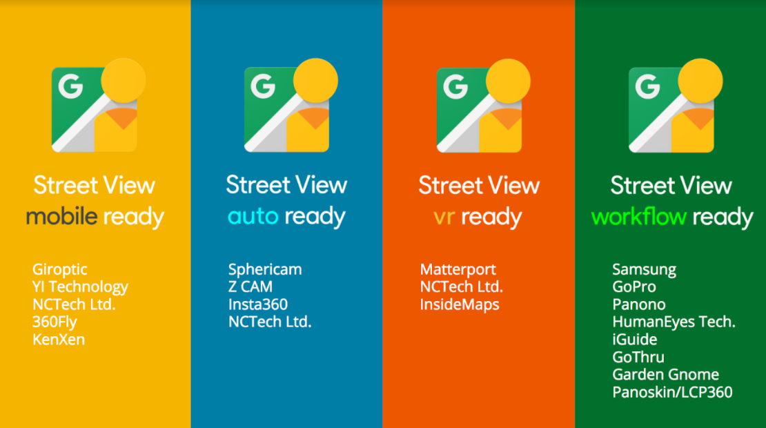 Google's Street View ready certifications