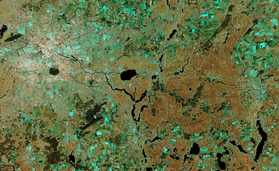 The Big Picture: a laser-beamed satellite image of Berlin