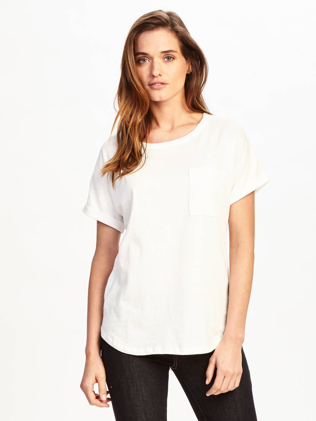 white t-shirt girl