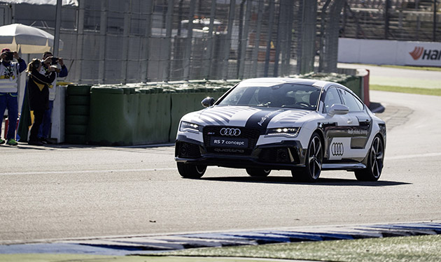Audi RS 7 proves it needs no driver to go racing