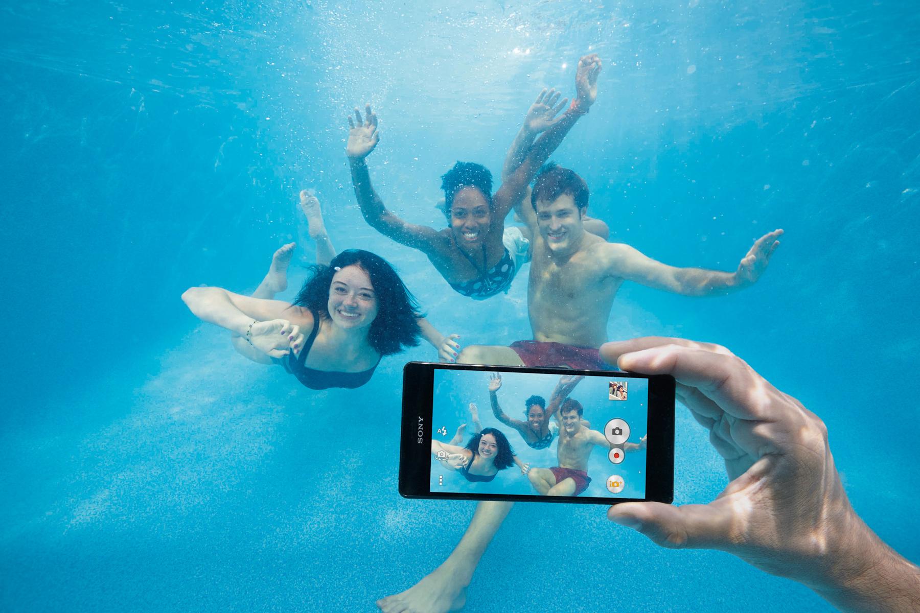 Don't use Sony smartphones underwater