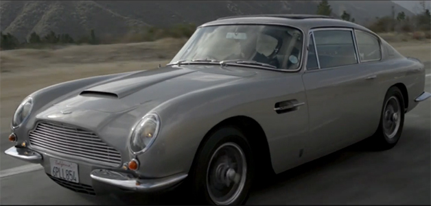 Screencap from video profiling Paul, an Aston Martin owner who fitted his DB6 with the gadgets from James Bond's DB5.