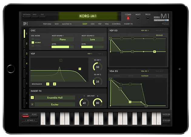 Korg brings its classic M1 synthesizer to the iPad