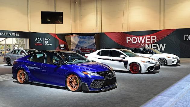 【SEMA2017】トヨタ、NASCARドライバーがカスタムした多彩な「カムリ」を出展!