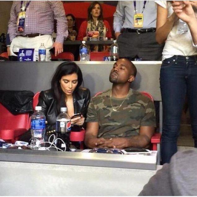 Kim Kardashian Kanye West Super Bowl