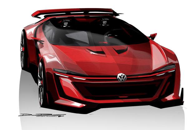 VWが『グランツーリスモ』とコラボした「ゴルフGTI」ベースのスーパーカーを発表