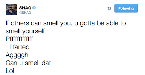 Shaquille O'Neil's Hilarious Tweets Deserve To Be In The Hall Of Fame