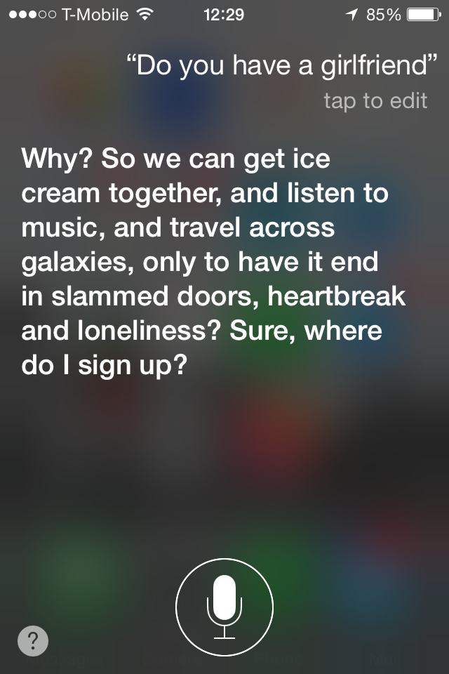 Here are 16 other questions that will trigger Siri's attitude