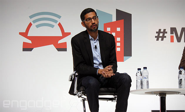 Google's Sundar Pichai at Mobile World Congress