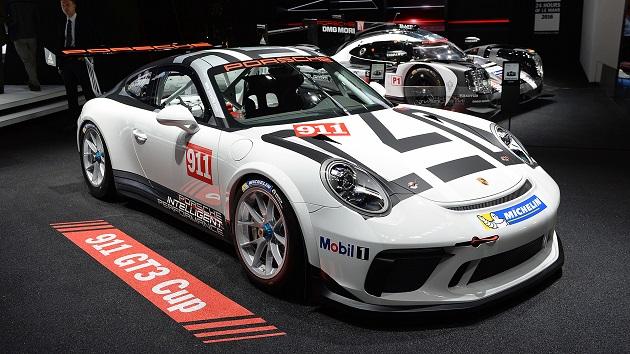 【パリモーターショー2016】ポルシェ、排気量が拡大された「911 GT3 Cup」の最新型を発表