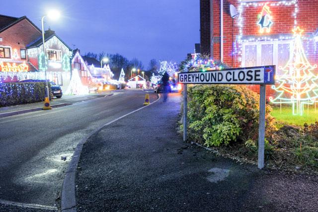 Festive neighbours turn cul-de-sac into winter wonderland