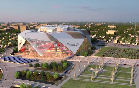 Mercedes benz stadium announced in atlanta cars news for Hotels near mercedes benz stadium