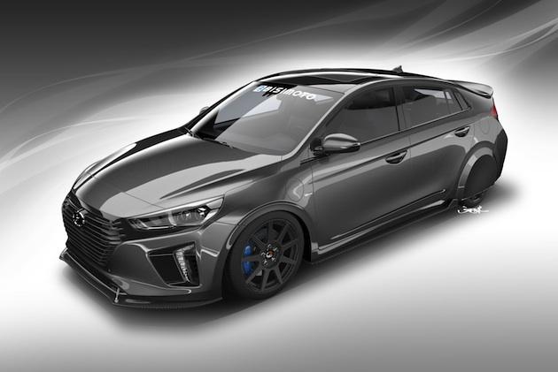 Bisimoto Engineering、ヒュンダイ「アイオニック」の燃費向上を図ったカスタムカー「ハイパーエコニック」をSEMAショーに出展