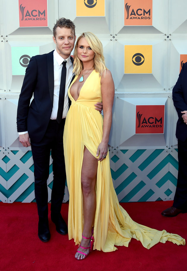 LAS VEGAS, NEVADA - APRIL 03:  Recording artists Anderson East (L) and Miranda Lambert attend the 51st Academy of Country Music Awards at MGM Grand Garden Arena on April 3, 2016 in Las Vegas, Nevada.  (Photo by Rick Diamond/ACM2016/Getty Images for dcp)