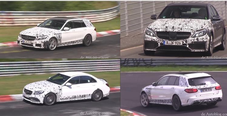 Mercedes-Benz, Mercedes C63 AMG, W205, Erlkönig, Spy shot, AMG Sport Line, Sound, Biturbo V8, Video, C63, Nürburgring, Grüne Hölle, Testwagen, Protoyp