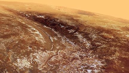 Zoom through an ancient Martian valley
