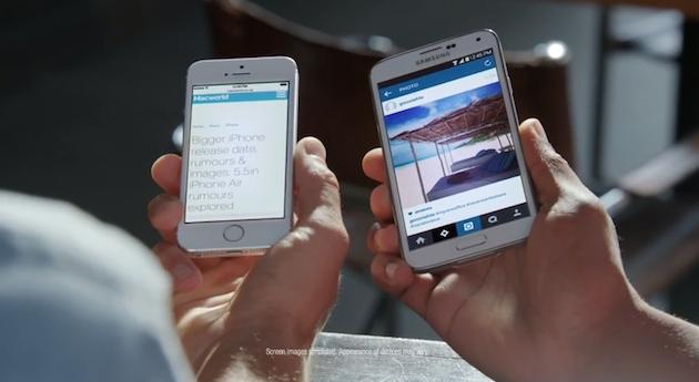Samsung no se cansa y se mete ahora con el iPhone... 6 (video)