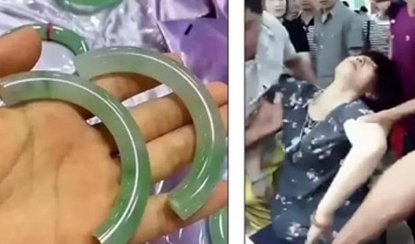 約500万円のブレスレットを宝石店で試着中に壊して失神した中国人女性