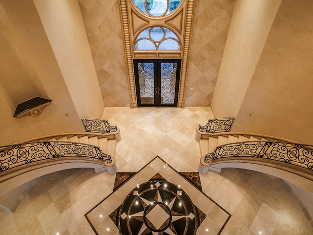 entryway of deion sanders mansion