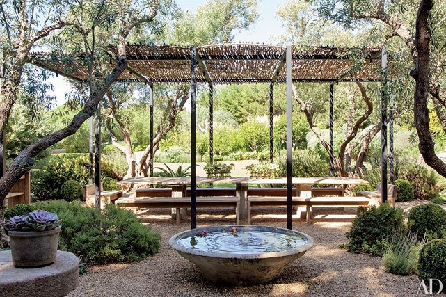 Patrick Dempsey's outdoor dining area
