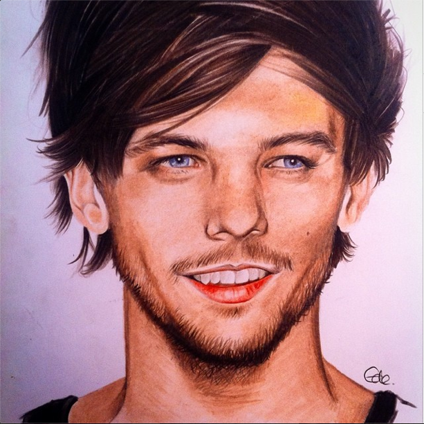 jack ede one direction louis tomlinson portrait