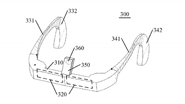 Lenovo's patent application for a Google Glass-like device
