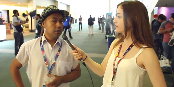 Interviewing E3 attendees