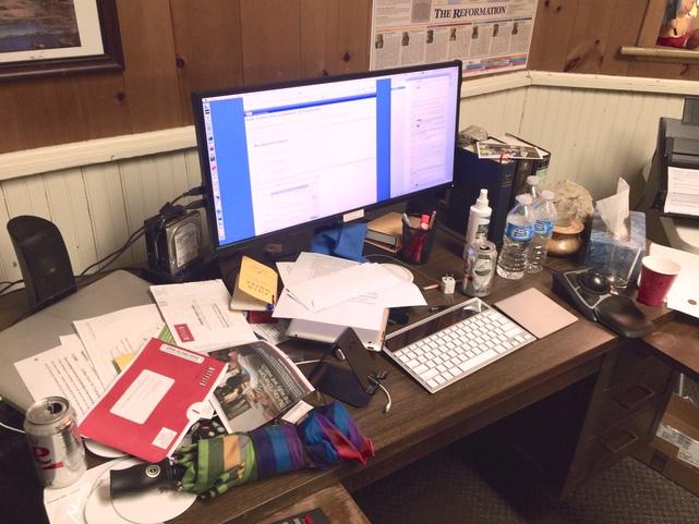 TJ Luoma's Desk