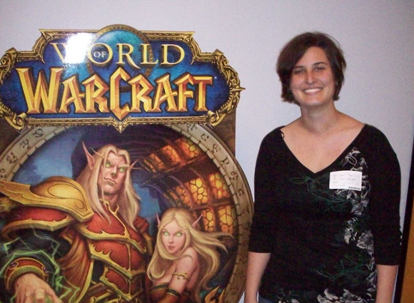 Sarah at Blizz HQ 2009