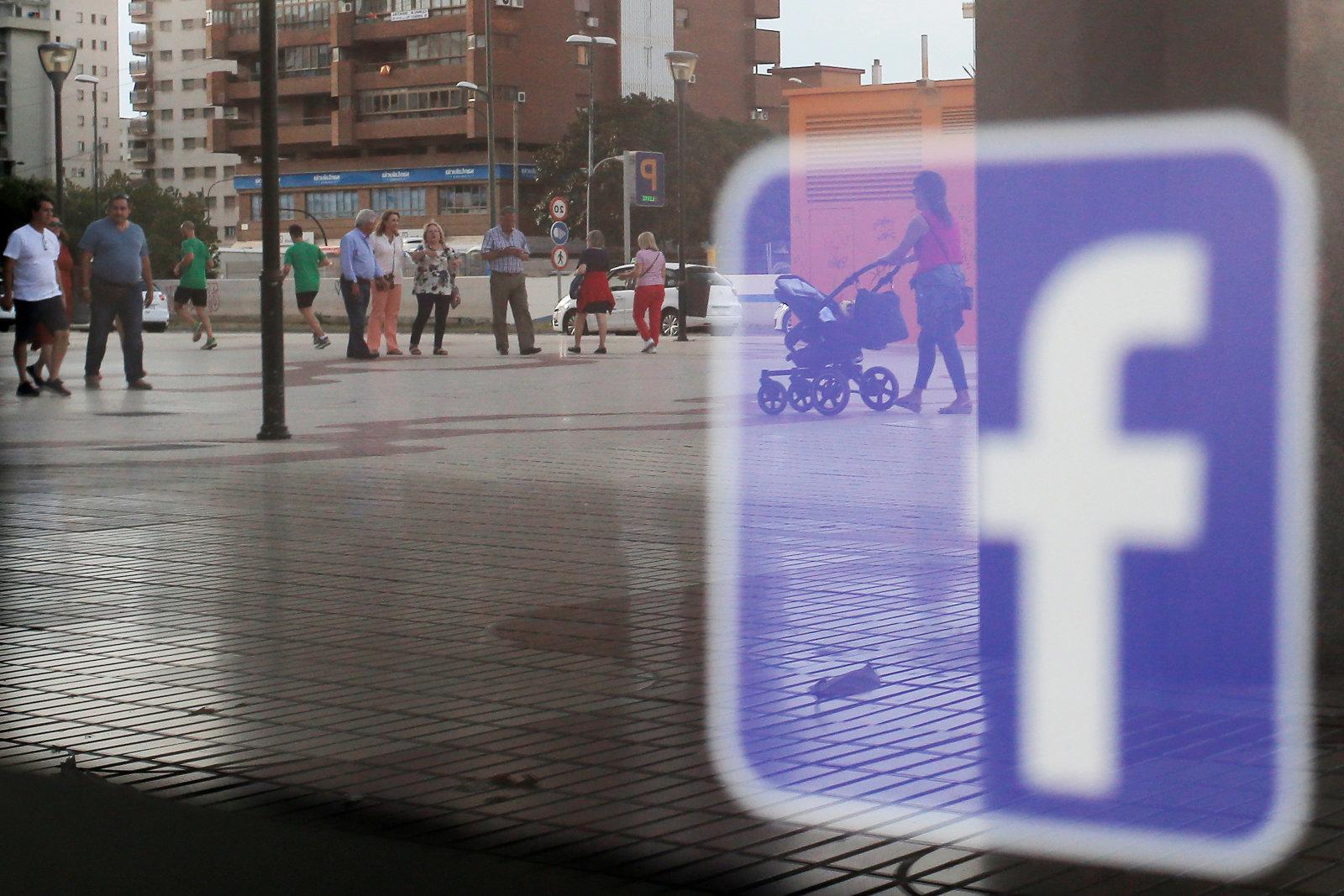 Facebook logo is seen on a shop window in Malaga, Spain, June 4, 2018. REUTERS/Jon Nazca