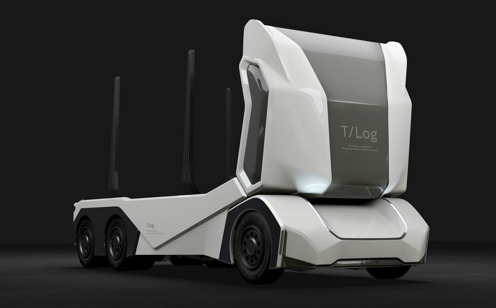 photo image Einride debuts a funky-looking autonomous logging truck