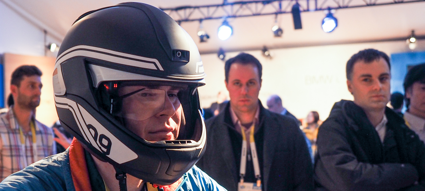 BMW's motorcycle helmet is the connected future on two wheels
