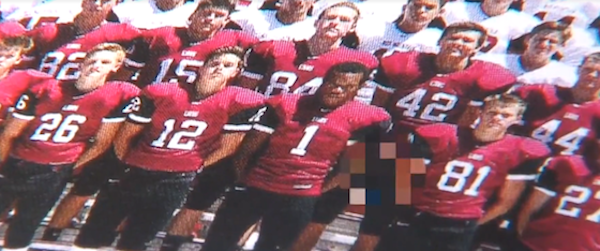 high school football player facing sex offender charges after penis winds up in team picture