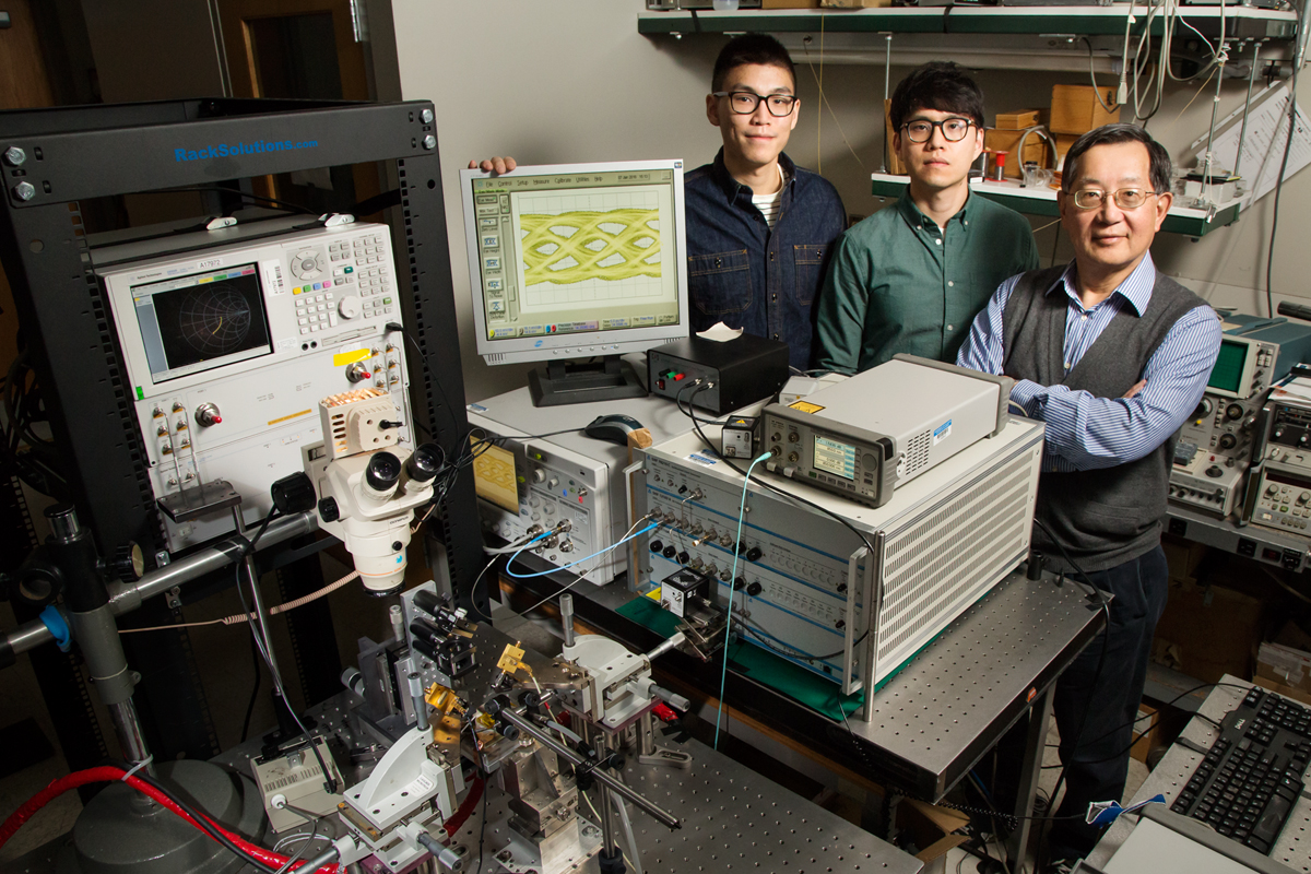 Curtis Wang, Michael Liu and Milton Feng for 57 Gb/s VCSEL for Energy Efficient Transmission